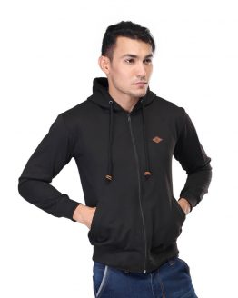 Inficlo Hoodies Pria Hitam Fleece SGU 420