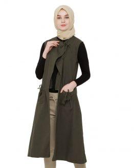 Java Seven Cardigan Wanita Muslimah Hijau Cotton ISL 015