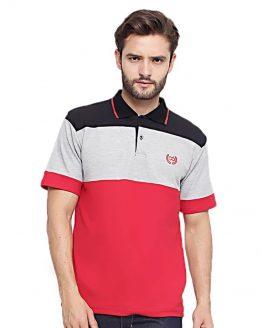 CBR6 Wangky Kaos Kerah Pria Merah Lacoste FFC 270