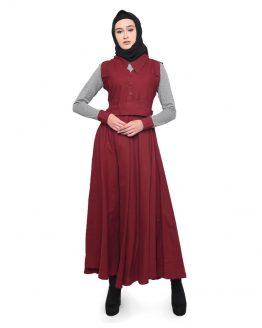 CBR6 Stelan Gamis Wanita Muslimah Abu Cotton NCC 450
