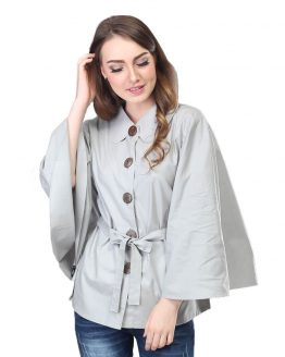 Inficlo Pakaian Atasan Wanita Abu Cotton SRS 958